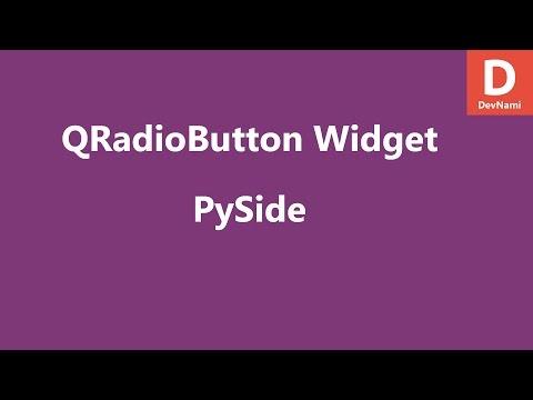 PySide Radio Button Widget QRadioButton