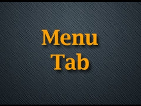 How To Use Your Menu Tab On Your Custom Mobile App