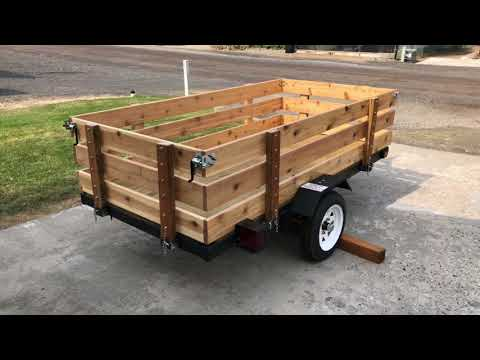 Harbor Freight Utility Trailer Build DIY
