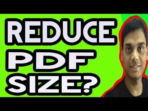 How To Reduce Pdf File Size   compress pdf file   Hindi   Helping abhi