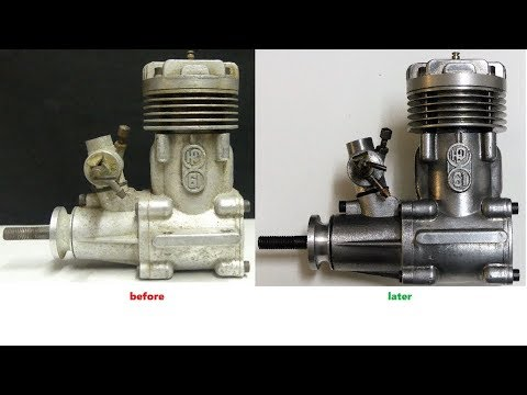 How to restore an old RC Nitro Engine for the glass showcase