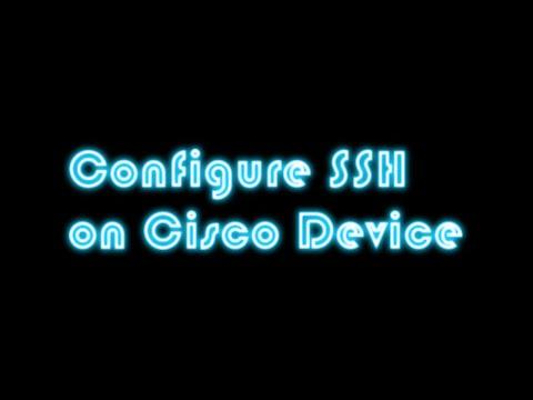 Cisco SSH Tutorial - Cisco SSH Configuration