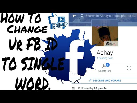 How To Change Your FB Name To aSingle Word.(Easiest Way).