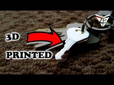 3D Printed Key (Life hack)