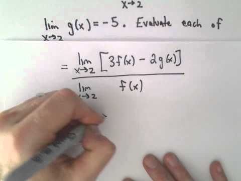Limit Laws to Evaluate a Limit , Example 1