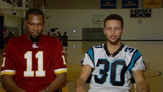 Steph Curry & Kevin Durant Shade LeBron James and Cavs, Fight over Redskins Vs Panthers