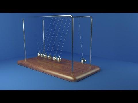 Blender Turorial 2.67 Physics Test: Newtons Cradle