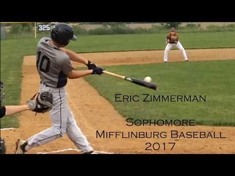 Eric Zimmerman, Sophomore, Mifflinburg High School Baseball 2017