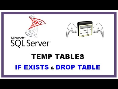SQL Server Temp Tables - TSQL Command Line  with  IF EXISTS and  DROP TABLE