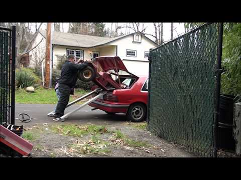 HOW TO FIT a RIDING LAWNMOWER into the TRUNK of your CAR !!!! funny