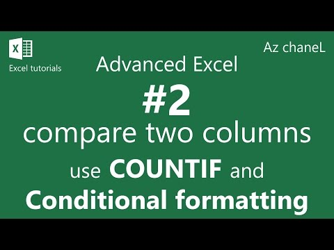 Advanced Excel Tutorial - How to compare two columns in Excel for matches and differences