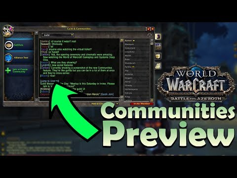 Battle for Azeroth Communities - In Game Preview | World of Warcraft