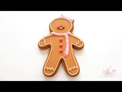 How to Decorate Gingerbread Girl Cookies with Royal Icing