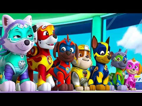 Paw Patrol Mighty Pups - ALL Mighty PAW Pups Rescue Team Chase, Rubble,  Skye - Fun Pet Games