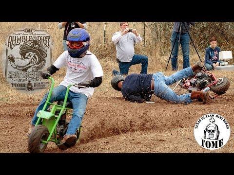 Mini Bike Dirt Track Racing at Hot Rod Riot feat. Texas Outlaw Mini Bikes