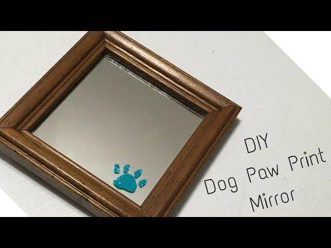 DIY Dog Paw Print Mirror