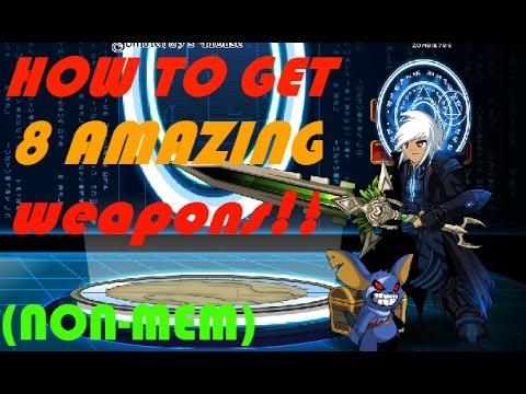 AQW - 8 AMAZING Non-Mem Weapons!!!