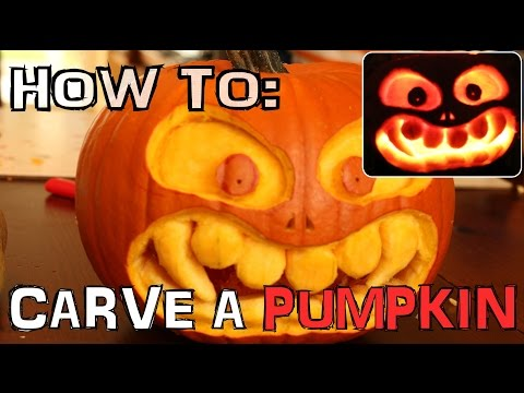 How To Carve A Scary Pumpkin For Halloween With Knife Only No Tools N