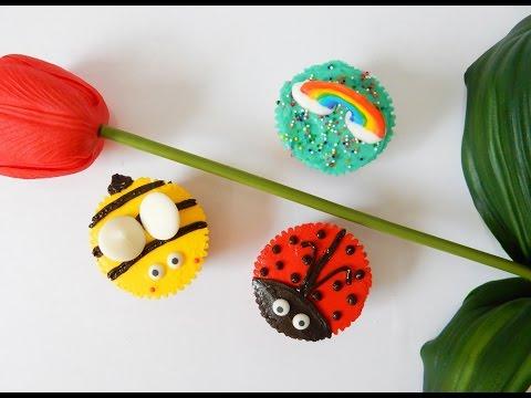 Ladybug and Bee Cupcakes