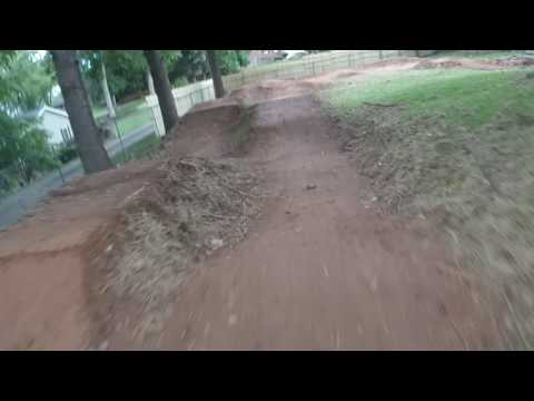 My backyard pump track