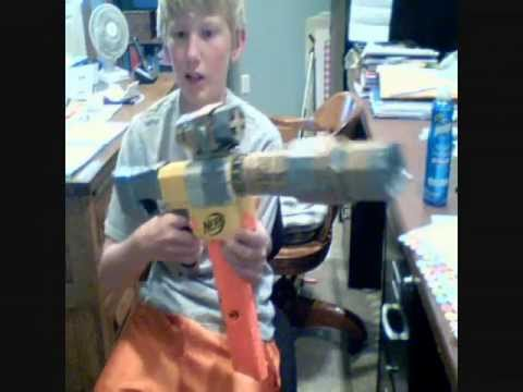 More homemade nerf attachments (pump action, new stock, scope)