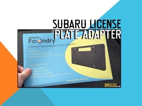 My Subaru Forester XT 2018 License Plate Adapter