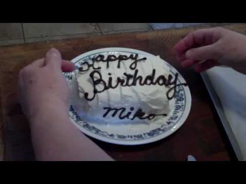 Piping Chocolate Writing (for cake decorations)