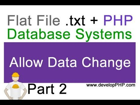 2. Flat File .txt + PHP Database Tutorial - Allow user or client to change data - CMS