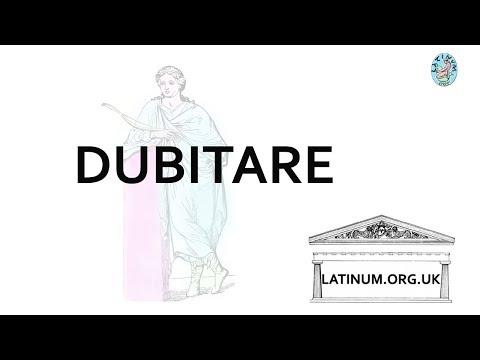 Latinum Adler Latin Grammar Lesson ch84 Dubitare