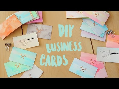 DIY BUSINESS CARDS - WATERCOLOUR AND GOLD EDGE | THE SORRY GIRLS