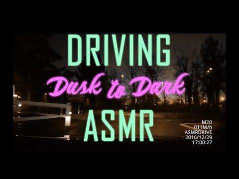 Dusk to Dark: Relaxing Night Driving ASMR Car, Deep Sleep! (40+ minutes, no talking)