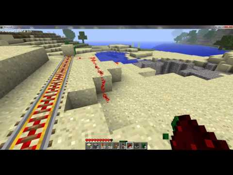 Minecraft - Powered rails (+ How to use them)