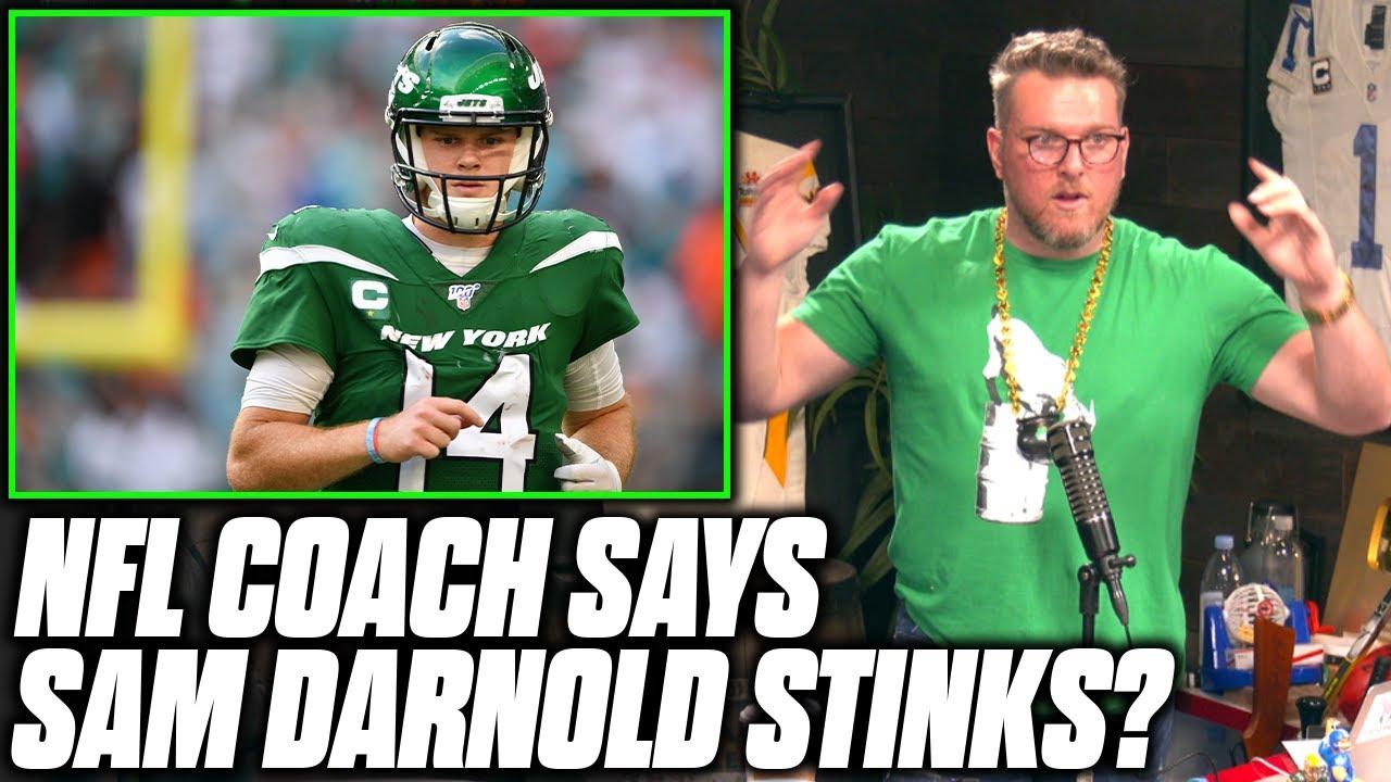 "Pat McAfee Reacts To NFL Coach Sayin Sam Darnold ""Stinks"""