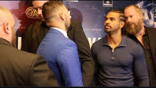 EXTREMELY INTENSE! - TONY BELLEW v DAVID HAYE - HEAD TO HEAD @ PRESS CONFERENCE (THE REMATCH)