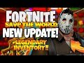 Fortnite Save The World Ep 1 NEW UPDATE FRESH START LEGENDARY LLAMAS