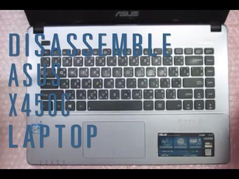 How to take apart/disassemble Asus X450C laptop