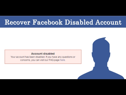 how to enable/recover A disable Facebook account