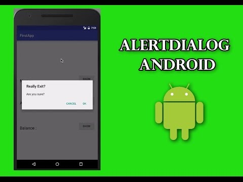 AlertDialog in Android Tutorial