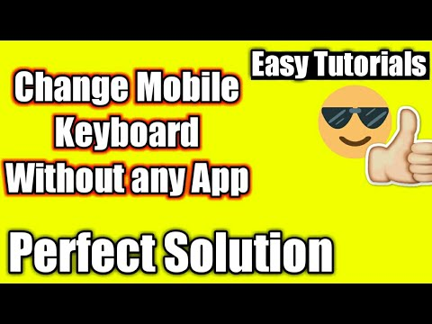How to change keyboard language without any app