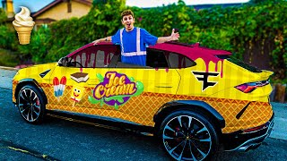 Turning my Lamborghini into an ICE CREAM TRUCK!! **insane**