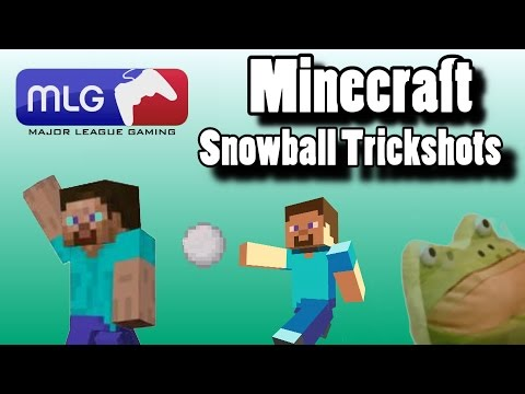Snowball Trick Shots!! |Minecraft| xbox one edition