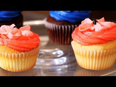 Make Baby Girl Cupcakes for a Shower | Cupcake Tutorials