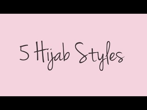 5 Hijab Styles (covering chest)