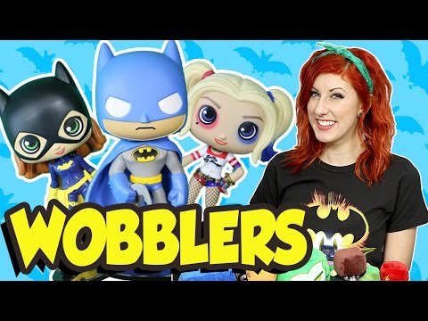 SUICIDE SQUAD HARLEY QUINN + Batgirl and Batman Wobblers by DC Toys