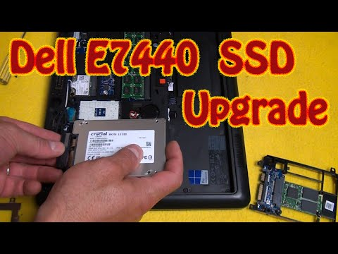 DIY How to Upgrade a Solid State Drive On a Dell Latitude E7440 Laptop Computer Replace MSATA Card