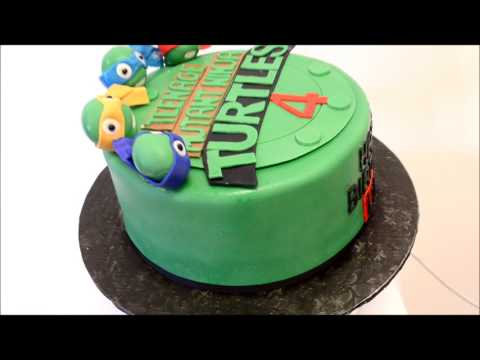 Turtle Ninja Cake - Teenage Mutant Ninja Turtle Cake
