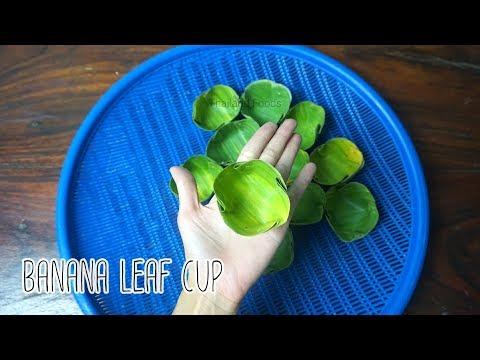 How to make Banana leaf Cup