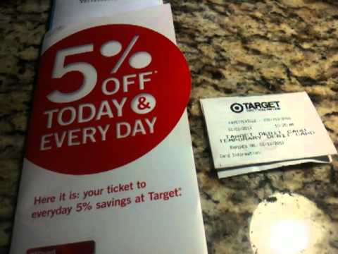 Target 5% off of Total Debit or Credit card = more Savings 1/2/2012