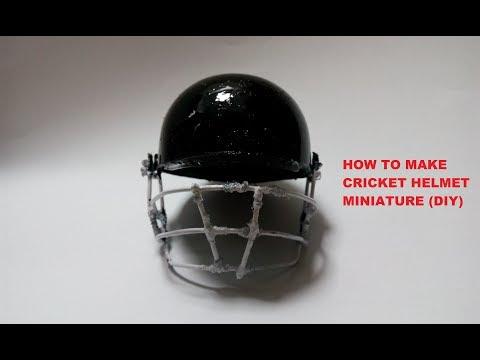 How to make cricket helmet miniature (DIY)