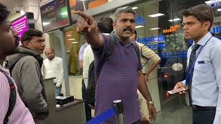 Flights Delayed At Coimbatore Airport. A man fights with INDIGO STAFF. Must watch. |HUGE FIGHT|